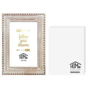 ΚΟΡΝΙΖΑ POLYRESIN ΛΕΥΚΗ VINTAGE 10x15cm Homie 321906