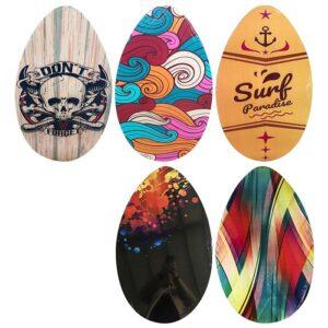 ΣΑΝΙΔΑ ΞΥΛΙΝΗ SURF SKIMBOARD 76x45cm SUMMERtiempo 622163