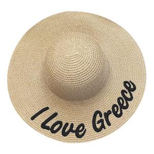 """ΚΑΠΕΛΙΝΑ ΓΥΝΑΙΚΕΙΑ """"LOVE GREECE"""" 42cm SUMMERtiempo 622262"""