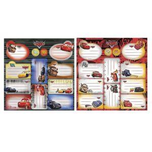 ΕΤΙΚΕΤΕΣ CARS ΣΕΤ=2 ΦΥΛΛΑ ΕΠΙ 12 ΕΤΙΚΕΤΕΣ  Beniamin Sp. z o.o. Sp. k. 5901276087540