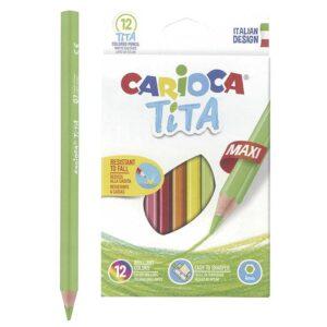 ΞΥΛΟΜΠΟΓΙΑ CARIOCA JUMBO ΣΕΤ=12ΧΡΩΜΑΤΑ  Carioca 42789