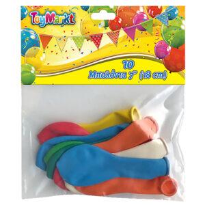 """ΣΕΤ 10 ΤΕΜ ΜΠΑΛΟΝΙΑ 7"""" 18cm ToyMarkt 9199"""