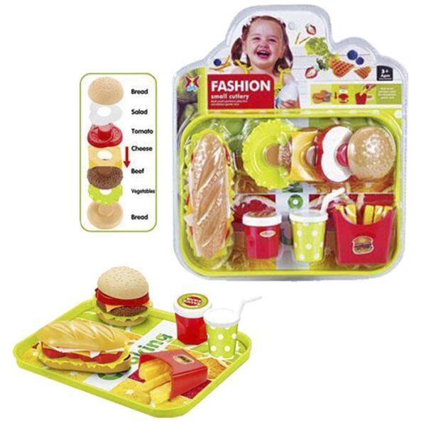ΣΕΤ FAST FOOD ΣΕ ΚΑΡΤΕΛΑ 28x33cm ToyMarkt 97974
